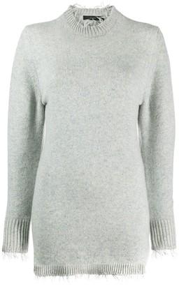 Alanui fringed-hem knitted dress