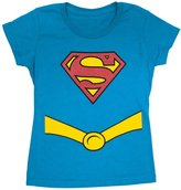 Superman Supergirl Youth Girls Costume Tee Shirt
