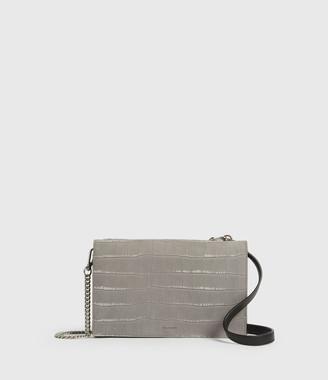 AllSaints Claremount Leather Chain Crossbody Bag