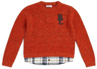 BRUNELLO CUCINELLI KIDS Monogram Sweater (4-7 Years)