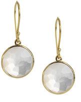 Ippolita 18k Mini Lollipop Earrings in Clear Quartz/Mother-of-Pearl