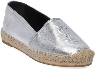 Saint Laurent Flat Metallic Espadrilles
