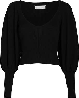 Ronny Kobo Tegan Balloon Sleeve Sweater