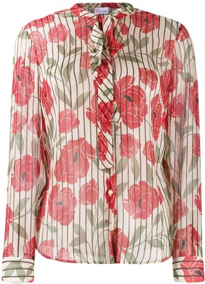 RED Valentino RED(V) striped floral print shirt