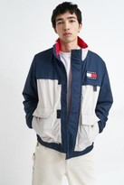 Tommy Jeans Navy Colourblock Jacket - blue S at Urban Outfitters
