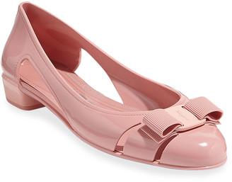 Salvatore Ferragamo Vara Jelly Ballet Flats