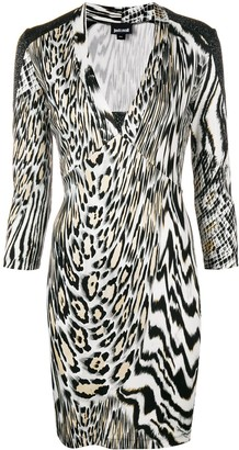 Just Cavalli Animal Print Fitted Dress