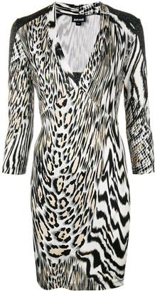Just Cavalli animal print fitted dress