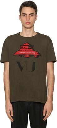 Valentino VU UFO PRINTED COTTON JERSEY T-SHIRT