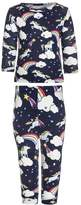 Gap ALLOVER UNICORN Pyjama set elysian blue