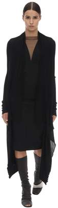 Rick Owens LONG WOOL KNIT WRAP CARDIGAN