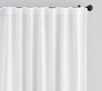 Pottery Barn Seaton Textured Cotton Rod Pocket Curtain - Charcoal