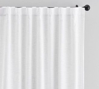Pottery Barn Seaton Textured Cotton Rod Pocket Curtain - Gray