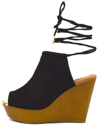 Qupid Wooden Mule Wedge