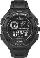 Timex Men's Expedition Vibe Shock Black Digital Display with Black Resin Strap Watch T49983