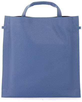 Orciani Bag In Cobalt Hammered Leather