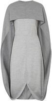 Burberry cape detail dress