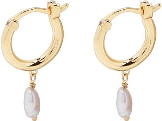 Gorjana Perla Cultured Pearl Huggie Hoop Earrings