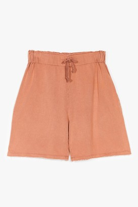 Nasty Gal Womens Always on the Run High-Waisted Jogger Shorts - Camel