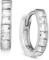 Danori Earrings, Crystal Accent Hoop