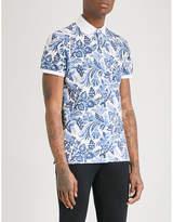 Etro Floral And Paisley-print Cotton-piqué Polo Shirt