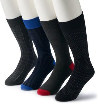 Croft & Barrow Men's 4-pack Opticool Pattern Crew Socks