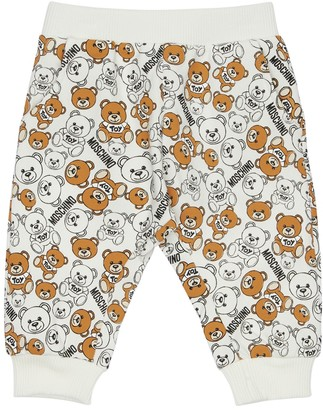 Moschino All Over Print Cotton Sweatpants