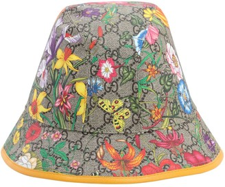 Gucci Floral Gg Supreme Bucket Hat