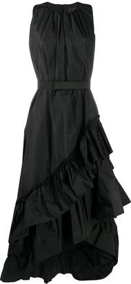 Max Mara Maxi Ruffle Taffeta Dress