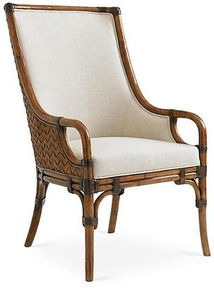 Tommy Bahama Marabella Upholstered Armchair - Ivory