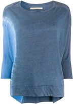 Raquel Allegra Cocoon three-quarter sleeved top