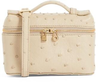 Loro Piana Ostrich Extra Pocket L14 Pouch Bag