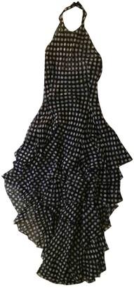 Alexander McQueen Blue Silk Dresses