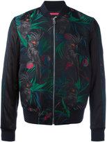 Paul Smith macaw print bomber jacket - men - Cotton/Polyester/Rayon/Wool - M