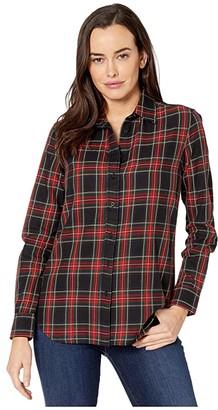 Lauren Ralph Lauren Stretch Cotton Shirt (Red/Polo Black) Women's Clothing