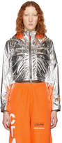 Heron Preston Silver Style Cropped Jacket