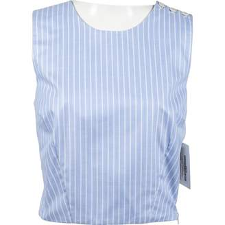 MDS Stripes Blue Cotton Tops