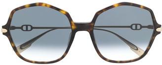 Christian Dior Link 2 tortoiseshell-effect sunglasses