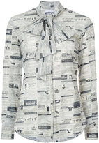 Moschino newspaper print blouse