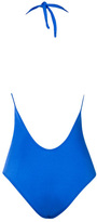 Caffe Swimwear - Plunge Neckline One Piece In Cobalt Blue