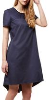Jaeger Curved Hem Cotton Dress, Navy