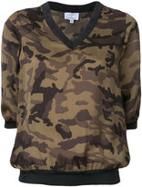 Lydia L. - cropped camouflage top - women - Polyester - 34