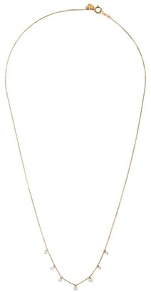 PERSÉE Yellow Gold and Diamond Danae Drop Necklace