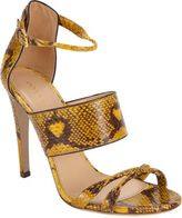 Sergio Rossi Snakeskin Crisscross Sandals