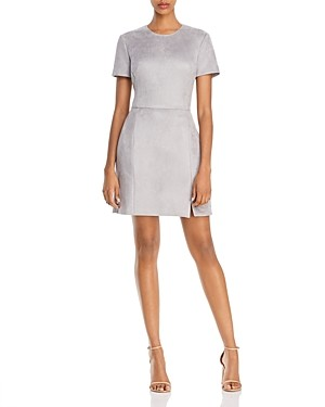 French Connection Suedette Faux-Suede Mini Dress