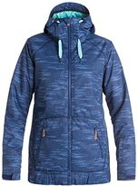 Roxy SNOW Junior's Valley Hoodie Tailored Fit Snow Jacket