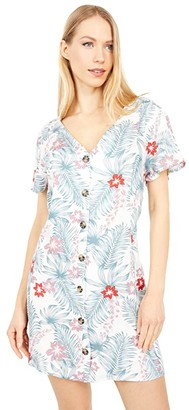 Hurley Belize Button-Up Dress (Ocean) Women's Clothing