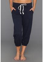 PJ Salvage Stars Stripes Cropped Lounge Pant (Navy) - Apparel