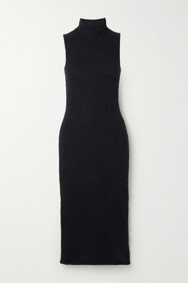 Mara Hoffman Net Sustain Rory Stretch-organic Cotton Cloque Midi Dress - Black