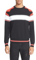 Givenchy Men's Stripe Raglan Sleeve Sweater